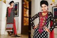 Stylish Embroidery Worked Salwar Kameez