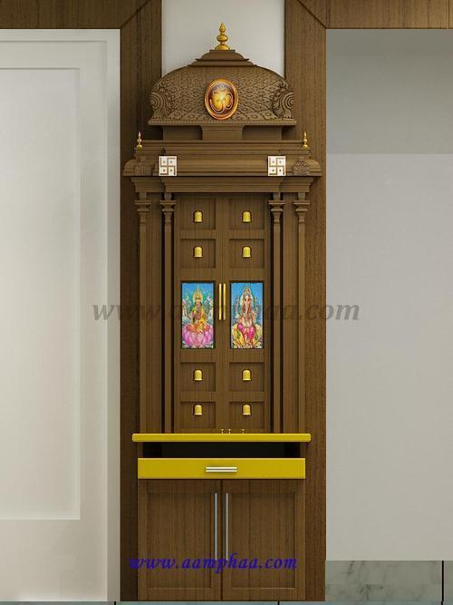 Teak Wood Pooja Design