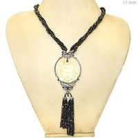 Buddha Carving Tassel Pendant Necklace