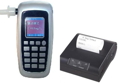 Alcohol Breath Analyzer,AT8800P Bluetooth Printer