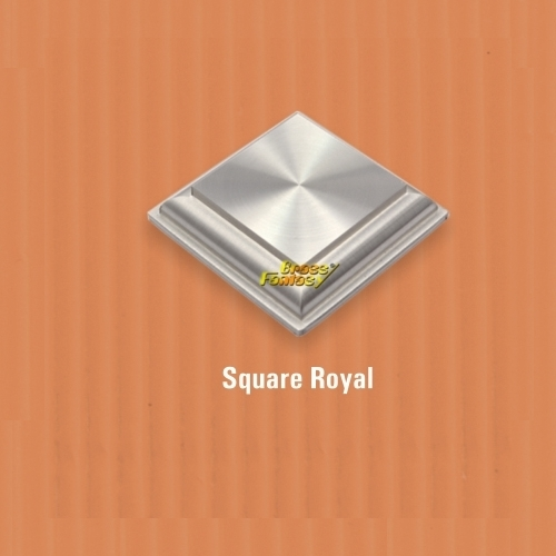 Square Royal Mirror Cap