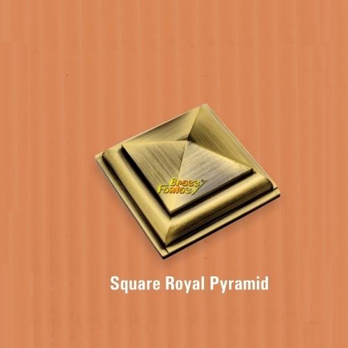 Square Royal Pyramid Mirror Cap