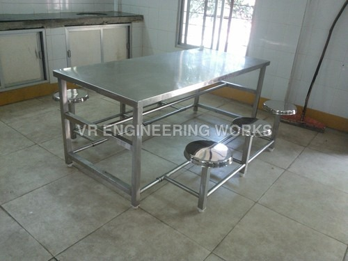 Stainless Steel Hotel Dining Table