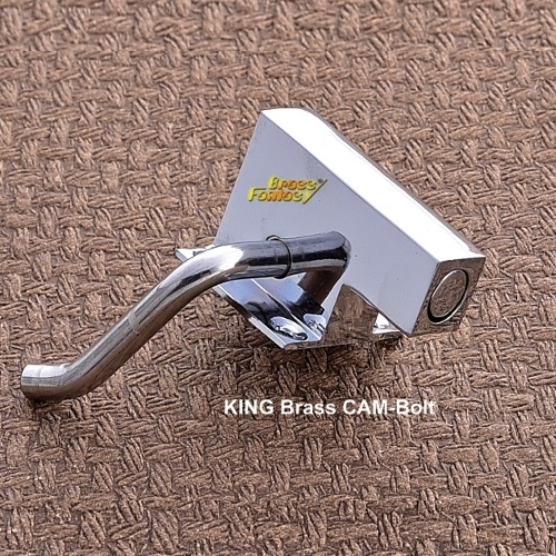 Brass Wardrobe Stopper, Cam Bolt