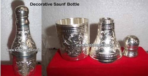 Silver Saunf Bottle - Decorative
