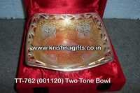 Silver Gold Two Tone Bowl