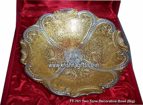 Silver Gold TwoTone Big Bowl
