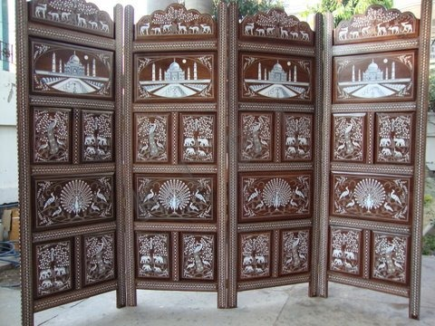 Wooden Inlaid Partition
