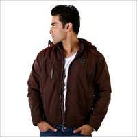 Mens Fur Hooded Jacket