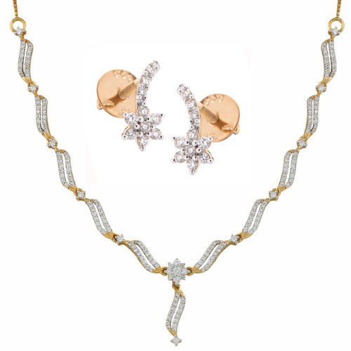 Dazzling Diamond Necklace Set
