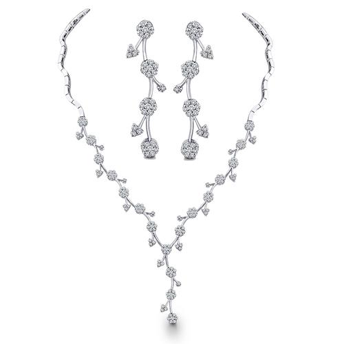 Delicate Diamond Necklace Set