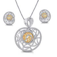 Adorable Diamond Pendant Set