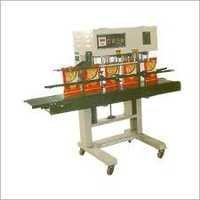 Vertical Heavy Continuous Band Sealer Machine
