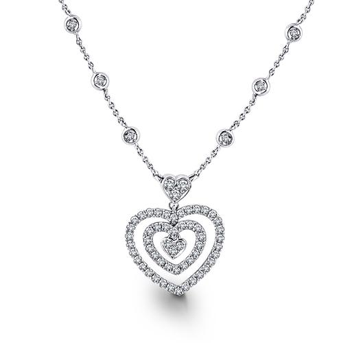 Stylist Heart Shape Diamond Pendent