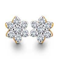 Star Shape Diamond Earring