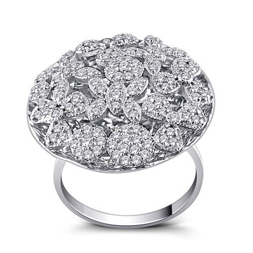 Fancy Floral Diamond Ring
