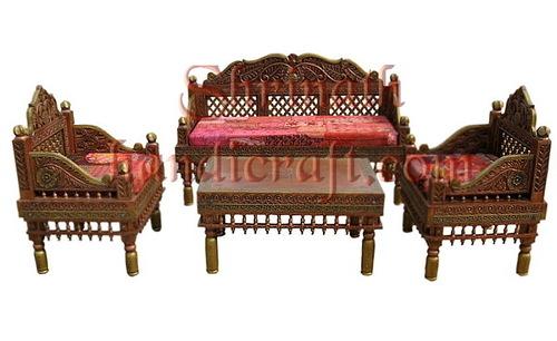 Copper & Brass Emboss Painted Sofa Set
