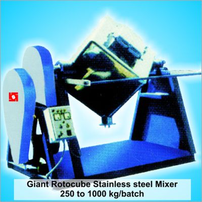 Gaint Rotocube Shape Dry Color Mixer