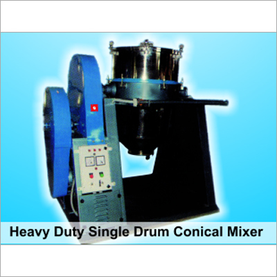 Single Drum Dry Color Conical Mixer