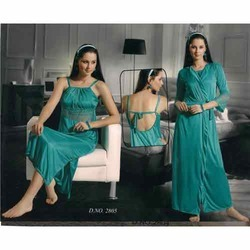 Two Piece Nighty ( Green Colour )