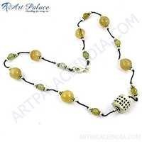 Natural Gemstone & Beads In Silver Necklace jewelry Manufacturing, 925 Sterling Silver Jewelry