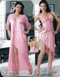 Short Two pcs Satin Nighty For Bedroom Wear