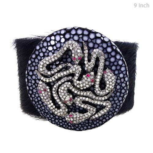 Silver Diamond Pave Stingray Bracelet