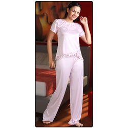 Ladies Night Suit With Lace