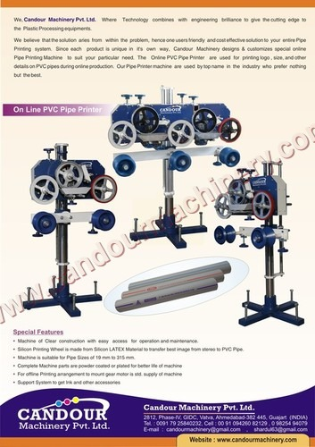 Online PVC Pipe Printing Machine
