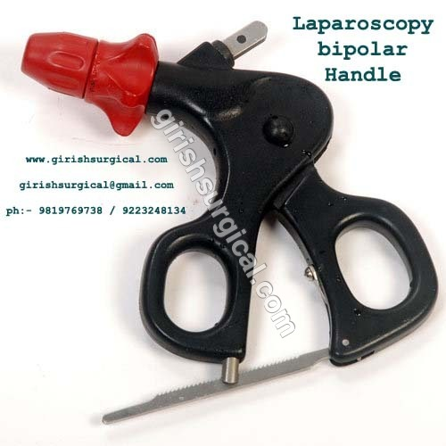 Laparoscopy bipolar Handle with rachet