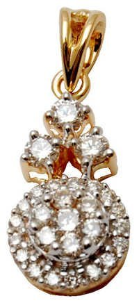 daily wear gold diamond pendent, pure gold 18k diamond pendent for girls