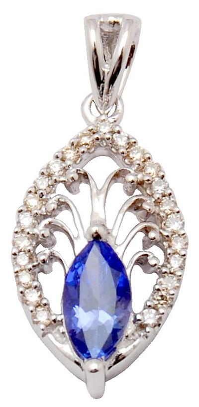 modern gold diamond pendent, marques blue sapphire diamond pendent