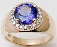 White Gold With Diamond Ring, Blue Sapphire Stone