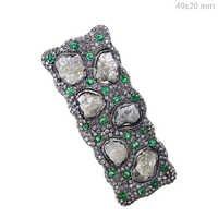 Emerald Gemstone Natural Diamond Ring