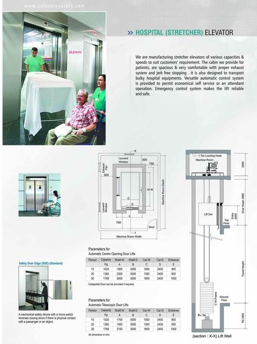 Hospital (Stretcher) Elevator