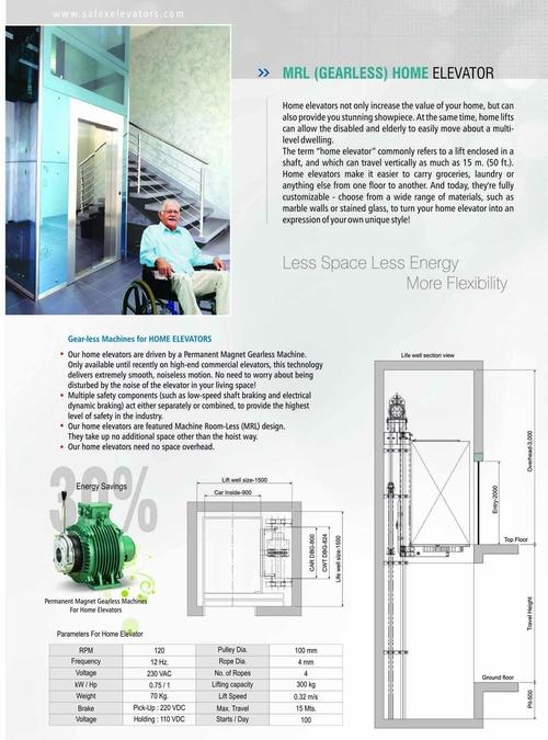 MRL Elevator (Gearless High Speed)