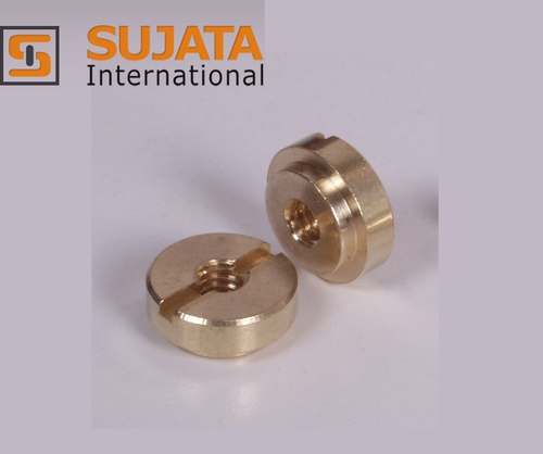 Brass Slotted Round Nut