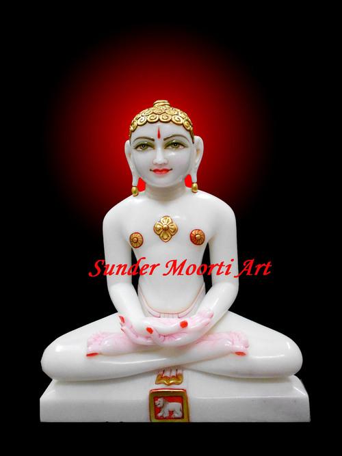 Marble Bhagwan Mahaveer Statue