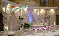 Asian Wedding Silver Crystal Stage