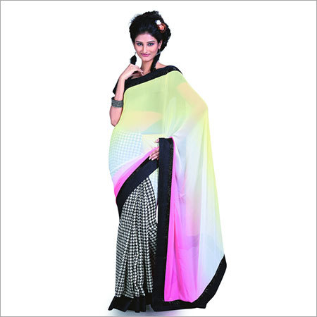 Blue Ombre Dyed Saree