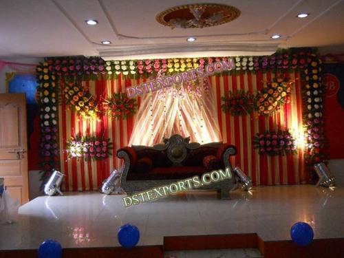 Indian Wedding Silver Crown Sofa