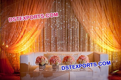 Wedding Stage Crystal Backdrop Decors