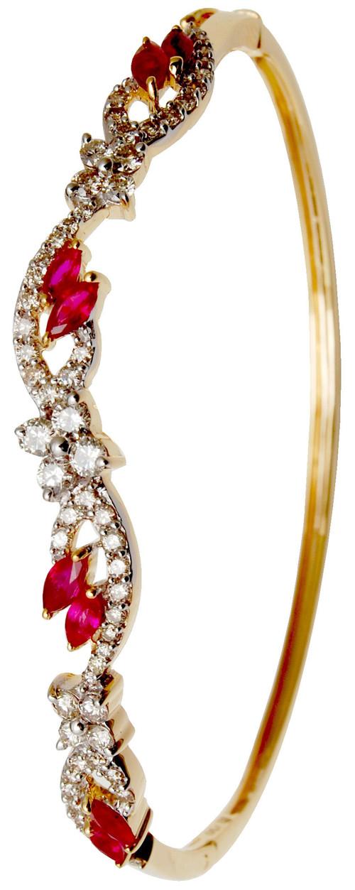 Ruby Yellow  Gold Bracelet, Latest  Gold Bracelet