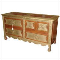 Brass Cabinet And Drawers