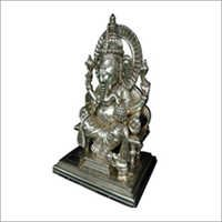Silver Metal God Statues & Temple