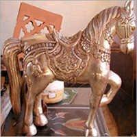 Silver Metal Animal Statues