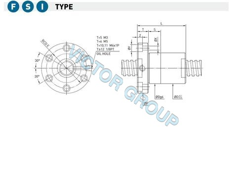 Hiwin Ball Screw R_25-5-T3-Fsi
