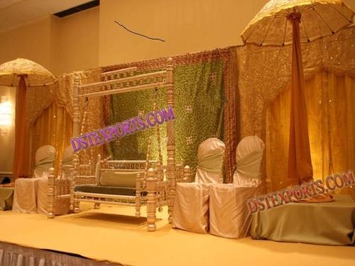 MUSLIM WEDDING MEHANDI STAGE SET