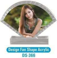 Design Fan Shape Acylic