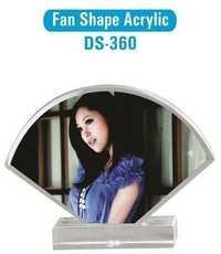Fan Shape Acrylic Photo Frame